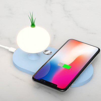 10W Fast Charge Wireless Charger with Onion Night Light Touch Adjustment Brightness
