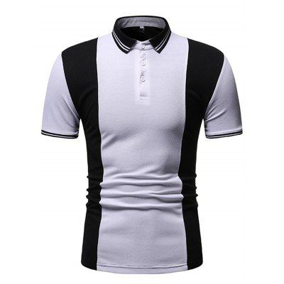 Men's T-shirt Short-sleeved Stitching Design Is Simple
