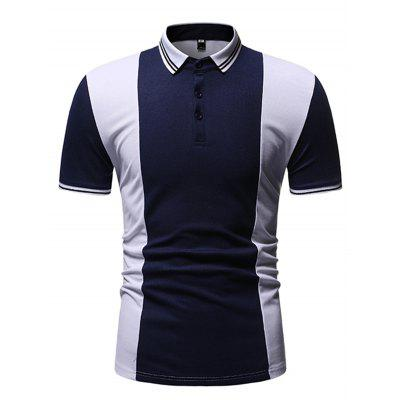 Men's T-shirt Short-sleeved Stitching Design Simple