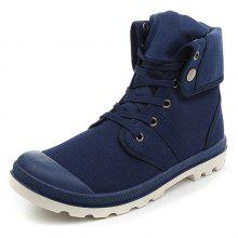Men's High-top Durable Canvas Outdoor Casual Shoes Anti-collision Toe
