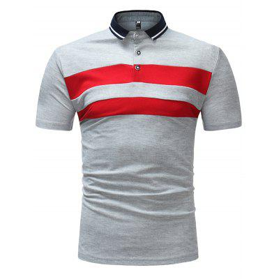 Men's T-shirt Casual Short Sleeve Stripe Pattern