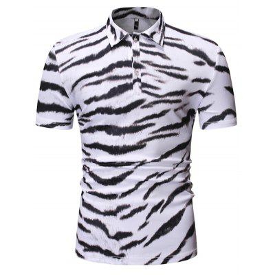 Heren T-shirt Animal Print met korte mouwen