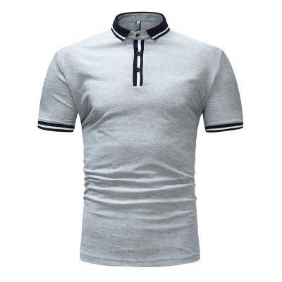 Men's T-shirt Large Size Solid Color Casual Short Sleeve