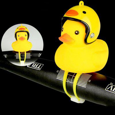 Creative Glow Duck Toy with Helmet / Light for Bicycle