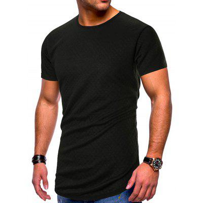 Men's T-shirt Round Neck Large Size Solid Color Simple Casual