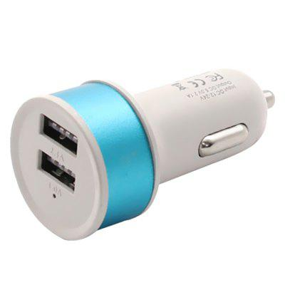 Circle Double Usb Car Charger