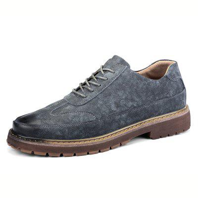 Men's Casual Fashion Gentleman British Style Casual Shoes Lace-up