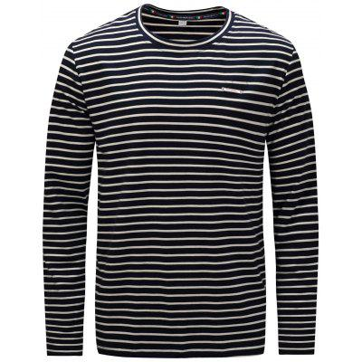 FREDD MARSHALL T-Shirt à Rayures Col Rond pour Hommes