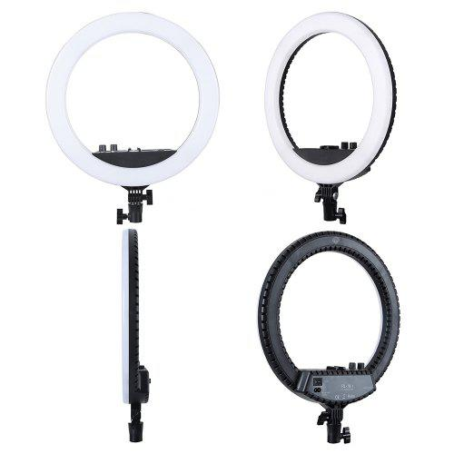 MANTOO 12 inch 28W LED Ring Light Adjustable Color Temperature 3200 - 5600K Warm to Cold with Stand Phone Holder