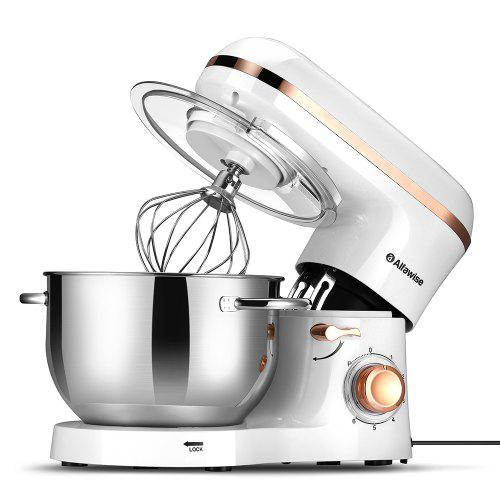 Gearbest Alfawise SM-1518X Kitchen Kneading Machine Dough Stand Mixer - White EU Plug High Efficiency / Low Noise / Leak-proof / Overload Protection / 1500W Power