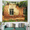 Old House Pattern Fashion Decorative Tapestry - BROWN SUGAR
