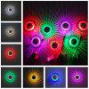 sanlang - 123 85 - 265V RGB Remote Control Sun Flower Wall Light - SILVER