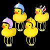 Creative Glow Duck Toy with Helmet / Light for Bicycle - YELLOW