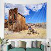 Desert Wooden House Fashion Decorative Tapestry - DODGER BLUE