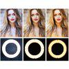 MANTOO 12 inch 28W LED Ring Light Adjustable Color Temperature 3200 - 5600K Warm to Cold with Stand Phone Holder - WHITE