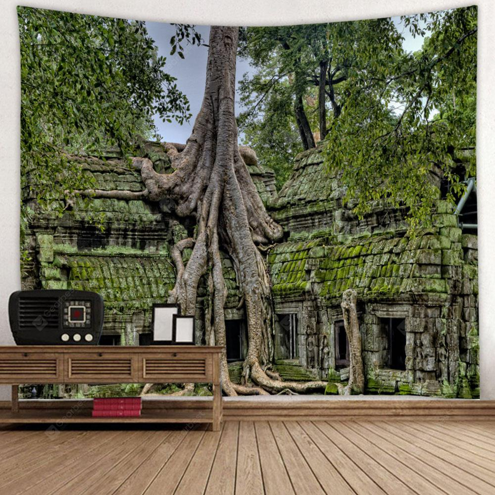 Old Tree Packing Pattern Decorative Tapestry