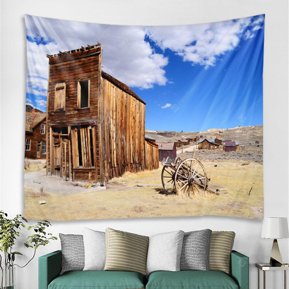 Desert Wooden House Fashion Decorative Tapestry