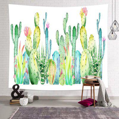 Cactus Tropical Green Plant Printed Tapestry