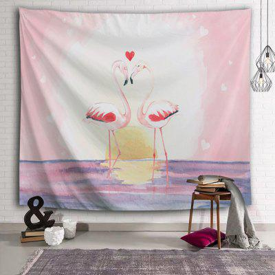 Flamingo Hand-painted Moon Romantic Print Tapestry