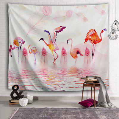 Flamingo Feather Tropical Style Tapestry
