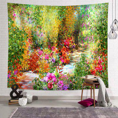 Oil Painting, Colorful Flowers, Country Style Tapestry