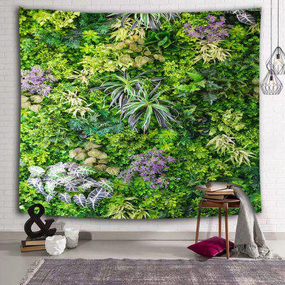 Green Plant Leaf Printed Polyester Tapestry