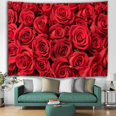 Rose Printed Polyester Fashion Tapestry