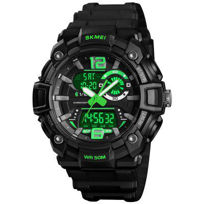 SKMEI 1529 Herren Mature Outdoor Sport Dual Display Digitaluhr Leuchtende
