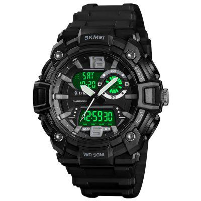 SKMEI 1529 Heren buiten-sporten Dual Display Digital Watch Luminous