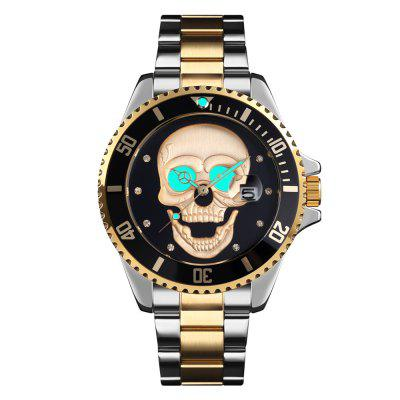 SKMEI 9195 Men's Rhinestone Creative Dial Waterproof Quartz Watch