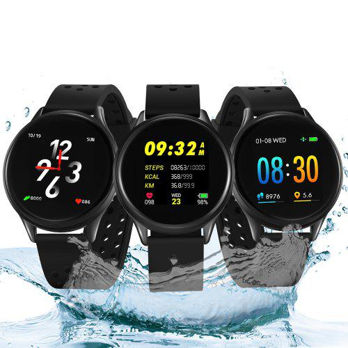 Gearbest Bilikay SN58 Waterproof Bluetooth Smart Watch Fitness Tracker - Black Heart Rate / Blood Pressure / Sleep Monitoring / Multiple Sport Modes / Pedometer / Sedentary Reminder / Call Reminder / Weather