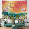 Tropical Plant Flower Romantic Print Tapestry - LIVING CORAL