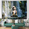 Elephant Falls Animal Print Polyester Tapestry - MULTI-A