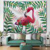Flamingo Tropical Style Plant Print Tapestry - MULTI-A
