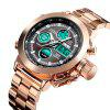 SKMEI 1515 Men's Fashion Hip Hop Style Double Display Digital Watch Stainless Steel Strap - ROSE GOLD