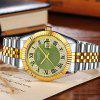 Men's Stainless Steel Classic Business Quartz Watch Large Dial - GREEN