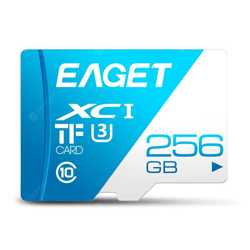 EAGET T1 High Speed UHS-I Flash TF Micro Memory Card Day Sky Blue 256G