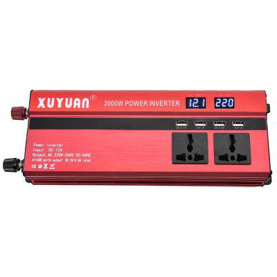 Portable Car Power Converter Inverter with LCD Display 2000W