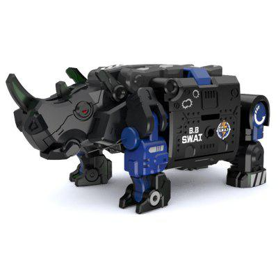 SWAT Rhinoceros Beast Series Blue Armour DIY Transformable Toy from Xiaomi youpin