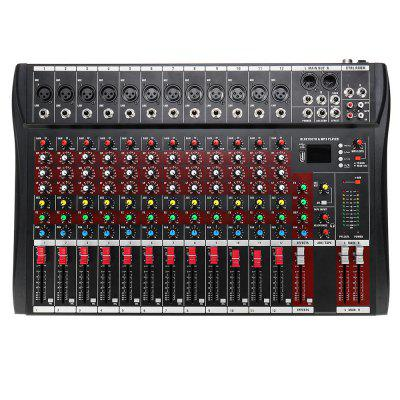 12 Channel Bluetooth Live Studio Audio Mixer Mixing Console