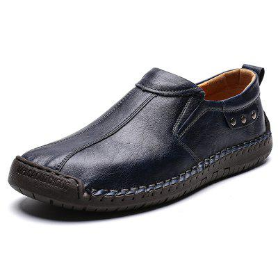 Men's Casual Shoes Hand Stitching Fashion Slip-on
