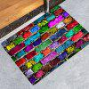 Personalized Colored Stone Road Printed Carpet - RED WINE