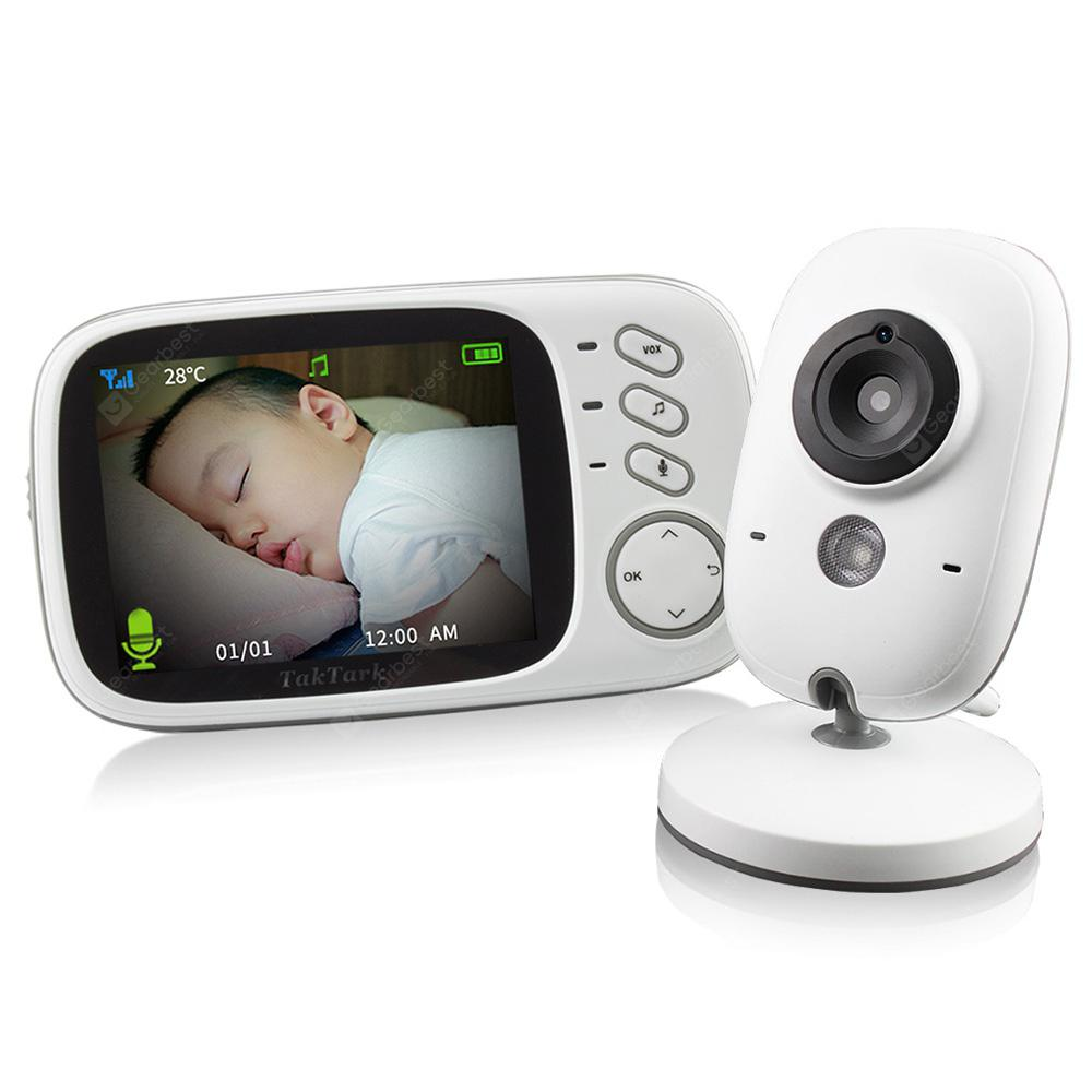 VB603 2.4G Video Baby Monitor Security 3.2 inch Mini Camera - White EU Plug