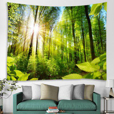 Forest Sunlight Trunk Plant Print Tapestry