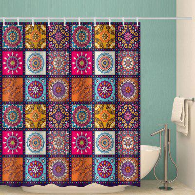 Bohemian Square Hip Hop Print Polyester Waterproof Shower Curtain