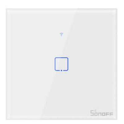 Type 86 British Standard Wifi Touch Panel Switch Sonoff Touch T0 UK 86 1/2/3 Gang TX Series Wall Touch Wifi Switch Smart Home Switch Voice Controlled By Alexa Google Home