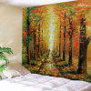 Forest Trail Autumn Printed Tapestry - HALLOWEEN ORANGE