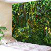 Green Plant Leaf Rattan Print Polyester Sanding Tapestry - MEDIUM SPRING GREEN