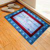 Pentagram Wooden Board Pattern Stylish Creative Carpet - DODGER BLUE