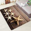 Wooden Board Five-pointed Star Carpet Leisure Style Home Decor - COFFEE